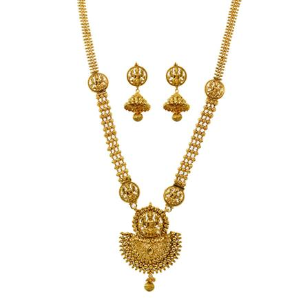 11464 Antique Temple Necklace with gold plating