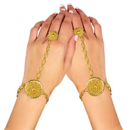 11466 Antique Plain Gold hath Pan
