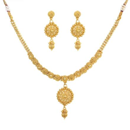 11469 Antique Delicate Necklace with gold plating