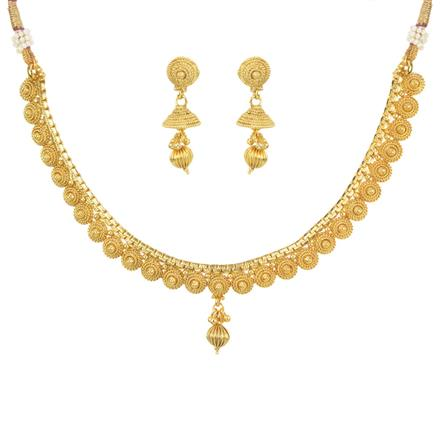 11470 Antique Delicate Necklace with gold plating