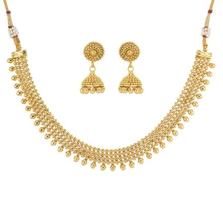 11471 Antique Delicate Necklace with gold plating