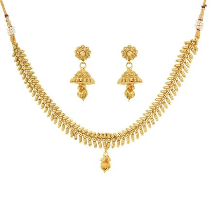 11472 Antique Delicate Necklace with gold plating