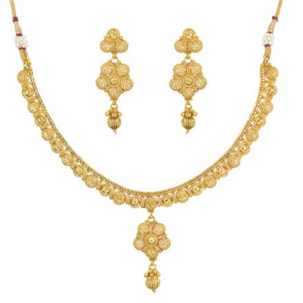 11473 Antique Delicate Necklace with gold plating