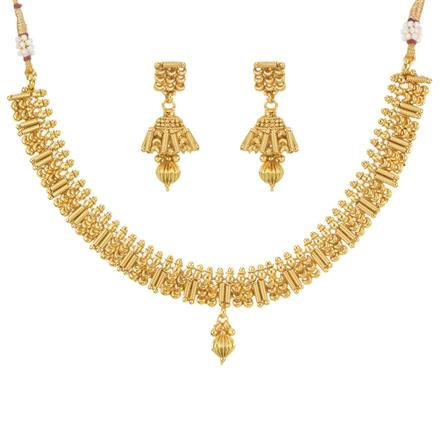 11474 Antique Delicate Necklace with gold plating