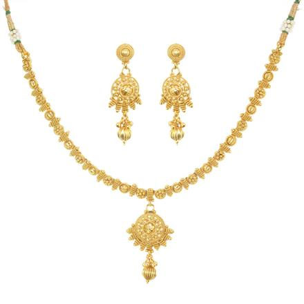 11475 Antique Delicate Necklace with gold plating