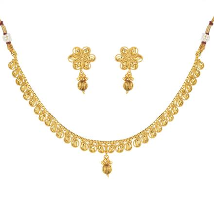 11476 Antique Delicate Necklace with gold plating