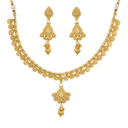 11477 Antique Delicate Necklace with gold plating
