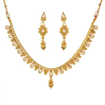 11478 Antique Delicate Necklace with gold plating