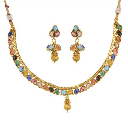 11479 Antique Delicate Necklace with gold plating