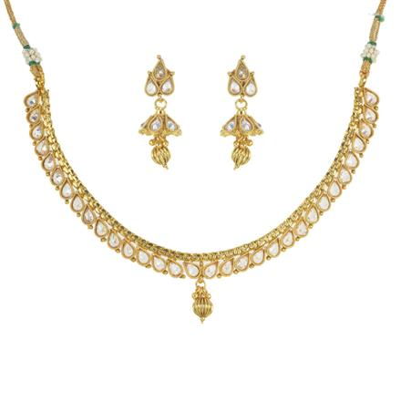 11480 Antique Delicate Necklace with gold plating