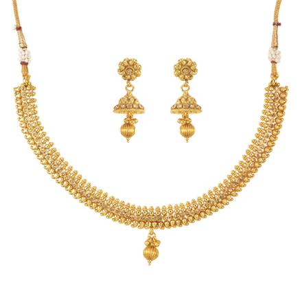 11481 Antique Delicate Necklace with gold plating