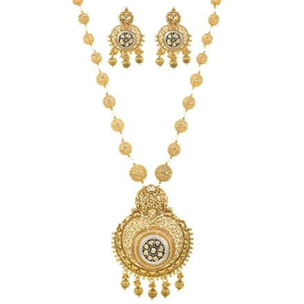 11482 Antique Mala Pendant Set with gold plating
