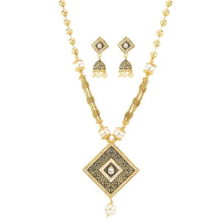 11483 Antique Mala Pendant Set with gold plating