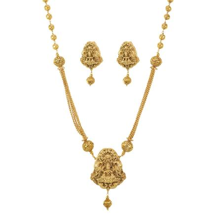 11485 Antique Temple Pendant Set with gold plating
