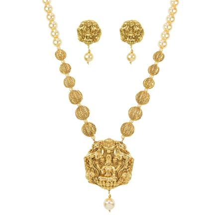 11487 Antique Temple Pendant Set with gold plating