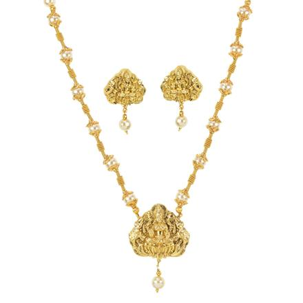 11488 Antique Temple Pendant Set with gold plating