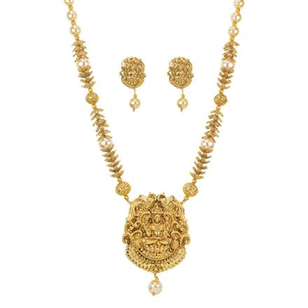 11489 Antique Temple Pendant Set with gold plating