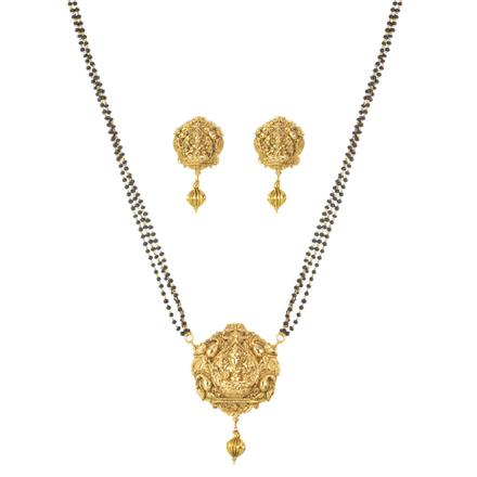 11490 Antique Temple Pendant Set with gold plating
