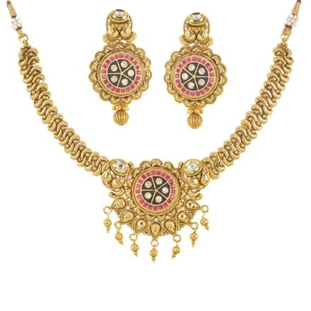 11493 Antique Classic Necklace with gold plating