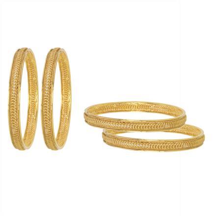 11494 Antique Plain Gold Bangles