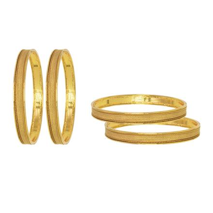 11495 Antique Plain Gold Bangles