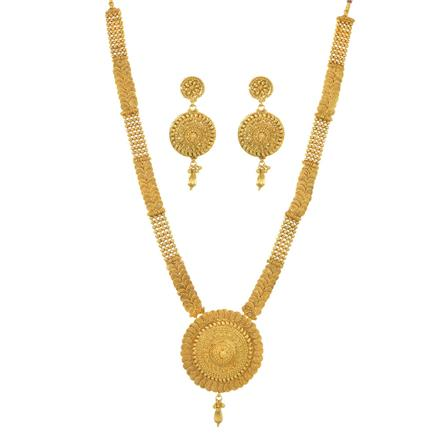 11496 Antique Long Necklace with gold plating