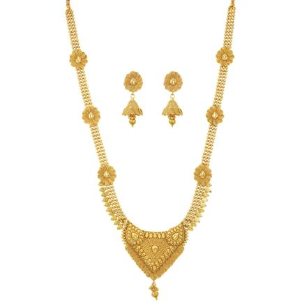 11497 Antique Long Necklace with gold plating