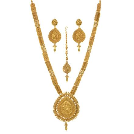 11498 Antique Long Necklace with gold plating
