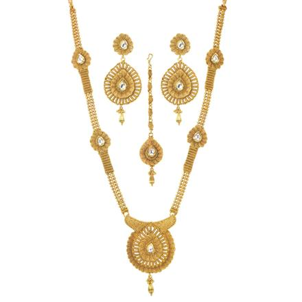 11499 Antique Long Necklace with gold plating