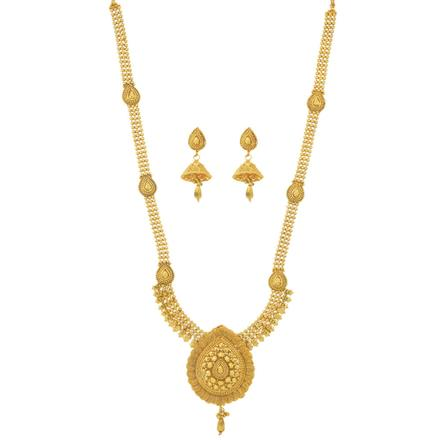 11500 Antique Long Necklace with gold plating
