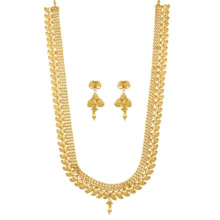 11501 Antique Long Necklace with gold plating