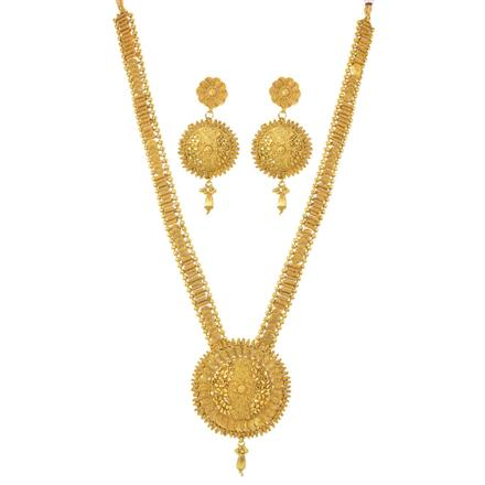 11502 Antique Long Necklace with gold plating