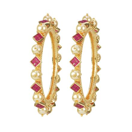 11504 Antique Classic Bangles with gold plating