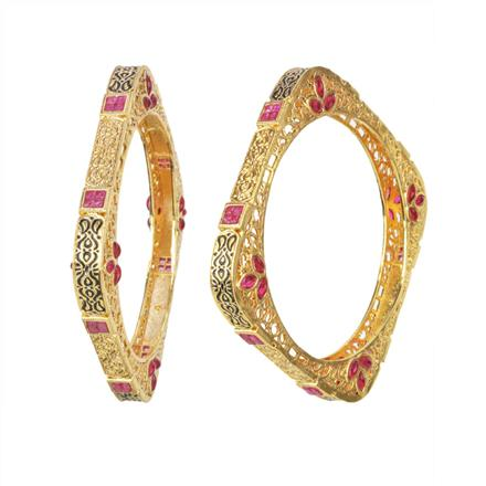 11506 Antique Classic Bangles with gold plating