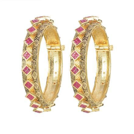 11507 Antique Openable Bangles with gold plating