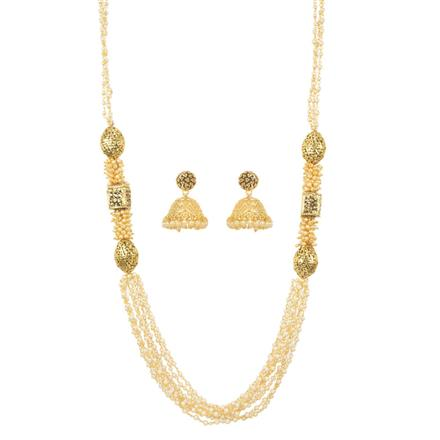 11508 Antique Mala Necklace with gold plating