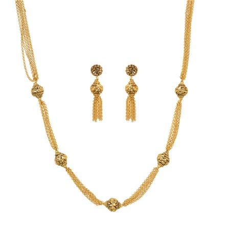 11509 Antique Mala Necklace with gold plating