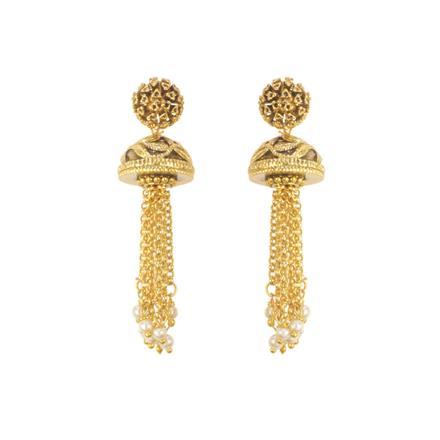 11510 Antique Plain Gold Earring