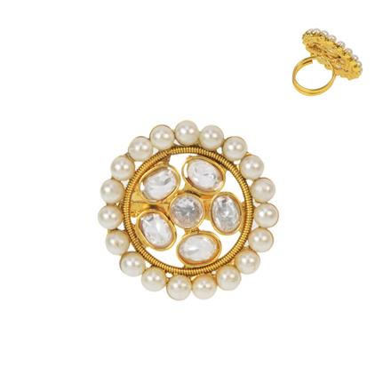 11514 Antique Classic Ring with gold plating