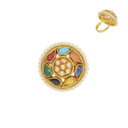 11516 Antique Classic Ring with gold plating
