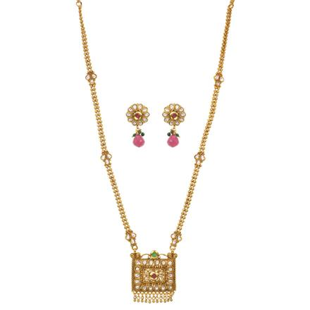 11522 Antique Long Necklace with gold plating