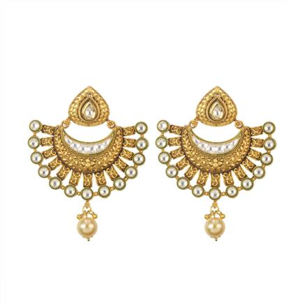 11524 Antique Chand Earring with gold plating