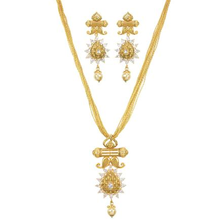 11526 Antique Classic Pendant Set with gold plating