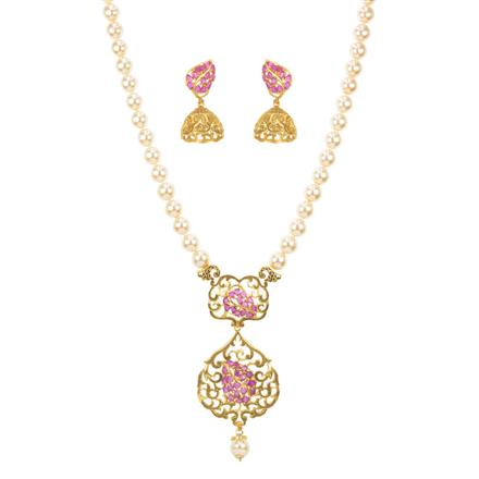 11527 Antique Mala Pendant Set with gold plating