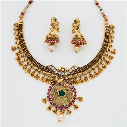 11529 Antique Classic Necklace with gold plating