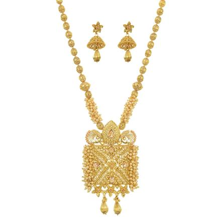 11534 Antique Mala Pendant Set with gold plating