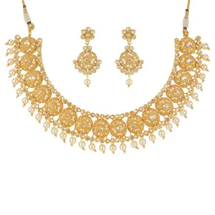 11561 Antique Classic Necklace with gold plating