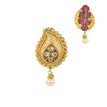 11580 Antique Classic Brooch with gold plating