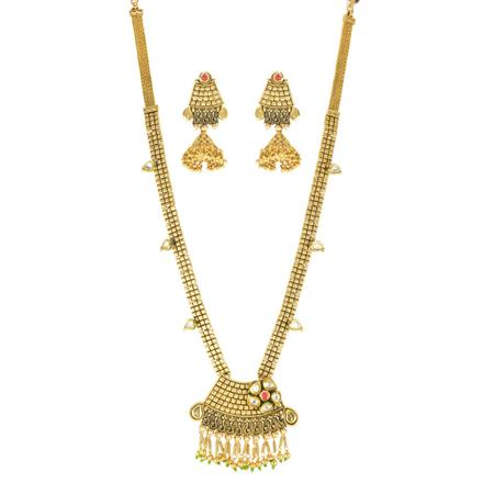 11582 Antique Long Necklace with gold plating