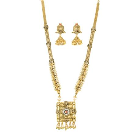 11585 Antique Long Necklace with gold plating